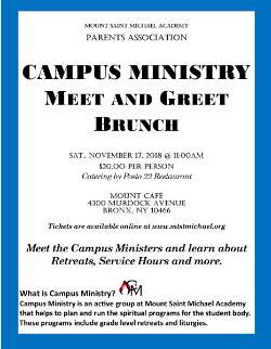 Campus ministry meet greet brunch news announcements mount campus ministry meet greet brunch news announcements mount saint michael academy m4hsunfo